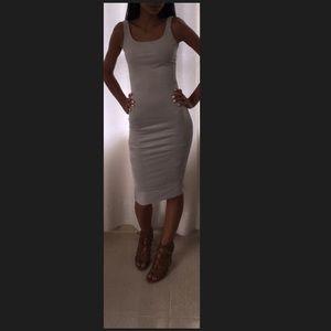 Gray suede dress